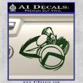 Spartan Warrior D4 Decal Sticker Dark Green Vinyl 120x120