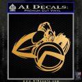 Spartan Warrior D4 Decal Sticker Metallic Gold Vinyl 120x120
