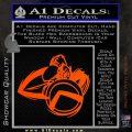 Spartan Warrior D4 Decal Sticker Orange Vinyl Emblem 120x120