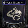 Spartan Warrior D4 Decal Sticker Silver Vinyl 120x120