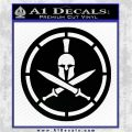 Spartan Warrior Decal Sticker CR8 Black Logo Emblem 120x120