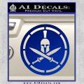Spartan Warrior Decal Sticker CR8 Blue Vinyl 120x120