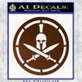 Spartan Warrior Decal Sticker CR8 Brown Vinyl 120x120