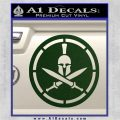 Spartan Warrior Decal Sticker CR8 Dark Green Vinyl 120x120