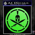 Spartan Warrior Decal Sticker CR8 Lime Green Vinyl 120x120