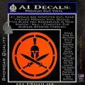 Spartan Warrior Decal Sticker CR8 Orange Vinyl Emblem 120x120