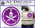Spartan Warrior Decal Sticker CR8 Purple Vinyl 120x97