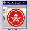 Spartan Warrior Decal Sticker CR8 Red Vinyl 120x120