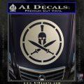 Spartan Warrior Decal Sticker CR8 Silver Vinyl 120x120