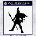 Spartan Warrior Spear Decal Sticker Black Logo Emblem 120x120