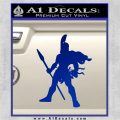 Spartan Warrior Spear Decal Sticker Blue Vinyl 120x120