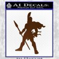 Spartan Warrior Spear Decal Sticker Brown Vinyl 120x120
