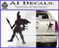 Spartan Warrior Spear Decal Sticker Carbon Fiber Black 120x97