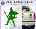 Spartan Warrior Spear Decal Sticker Green Vinyl 120x97