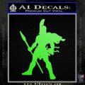 Spartan Warrior Spear Decal Sticker Lime Green Vinyl 120x120