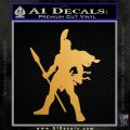 Spartan Warrior Spear Decal Sticker Metallic Gold Vinyl Vinyl 120x120
