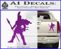 Spartan Warrior Spear Decal Sticker Purple Vinyl 120x97