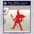 Spartan Warrior Spear Decal Sticker Red Vinyl 120x120