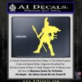 Spartan Warrior Spear Decal Sticker Yelllow Vinyl 120x120