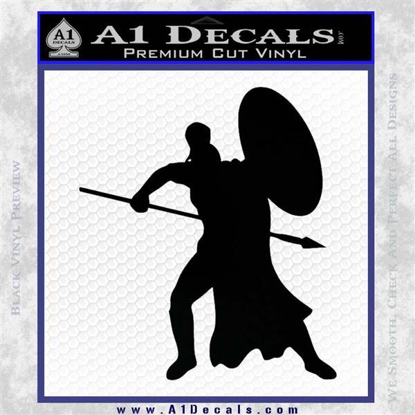 Spartan Warrior Spear Shield Decal Sticker » A1 Decals