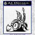 Spartan Warrior Stance Decal Sticker Black Logo Emblem 120x120