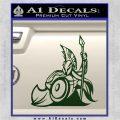 Spartan Warrior Stance Decal Sticker Dark Green Vinyl 120x120