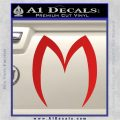 Speed Racer M Decal Sticker D2 Red Vinyl 120x120
