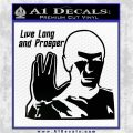 Spock Decal Sticker LLAP Decal Sticker Black Logo Emblem 120x120