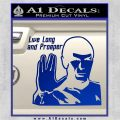Spock Decal Sticker LLAP Decal Sticker Blue Vinyl 120x120