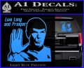 Spock Decal Sticker LLAP Decal Sticker Light Blue Vinyl 120x97