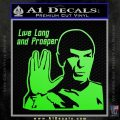 Spock Decal Sticker LLAP Decal Sticker Lime Green Vinyl 120x120