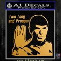 Spock Decal Sticker LLAP Decal Sticker Metallic Gold Vinyl Vinyl 120x120