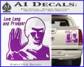 Spock Decal Sticker LLAP Decal Sticker Purple Vinyl 120x97
