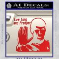 Spock Decal Sticker LLAP Decal Sticker Red Vinyl 120x120
