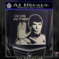 Spock Decal Sticker LLAP Decal Sticker Silver Vinyl 120x120