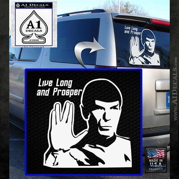 Spock Decal Sticker LLAP Decal Sticker White Emblem