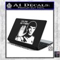 Spock Decal Sticker LLAP Decal Sticker White Vinyl Laptop 120x120