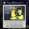 Spock Decal Sticker LLAP Decal Sticker Yelllow Vinyl 120x120