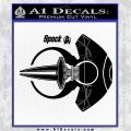 Spocks Jellyfish Spaceship Decals Sticker Star Trek2 Black Logo Emblem 120x120