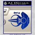 Spocks Jellyfish Spaceship Decals Sticker Star Trek2 Blue Vinyl 120x120