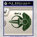 Spocks Jellyfish Spaceship Decals Sticker Star Trek2 Dark Green Vinyl 120x120