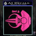 Spocks Jellyfish Spaceship Decals Sticker Star Trek2 Hot Pink Vinyl 120x120