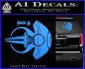 Spocks Jellyfish Spaceship Decals Sticker Star Trek2 Light Blue Vinyl 120x97