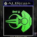 Spocks Jellyfish Spaceship Decals Sticker Star Trek2 Lime Green Vinyl 120x120
