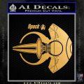 Spocks Jellyfish Spaceship Decals Sticker Star Trek2 Metallic Gold Vinyl 120x120