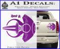Spocks Jellyfish Spaceship Decals Sticker Star Trek2 Purple Vinyl 120x97