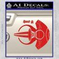 Spocks Jellyfish Spaceship Decals Sticker Star Trek2 Red Vinyl 120x120