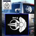 Spocks Jellyfish Spaceship Decals Sticker Star Trek2 White Emblem 120x120