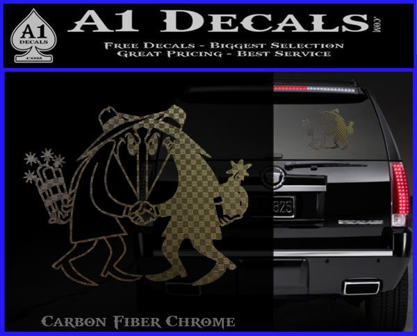 Spy vs spy vinyl decal sticker carbon fiber chrome logo 120x97