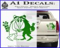Spy vs Spy Vinyl Decal Sticker Green Vinyl 120x97